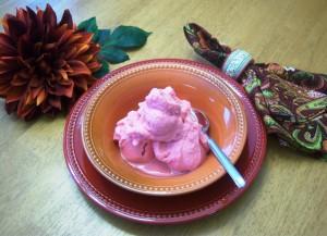 bowl of strwby ice cream