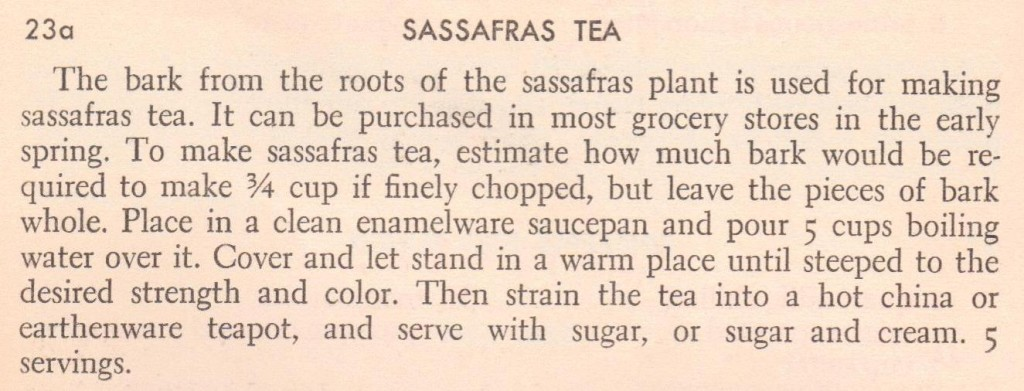 Sassafrass Tea