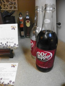 Pilgrim figurines & Dr Pepper