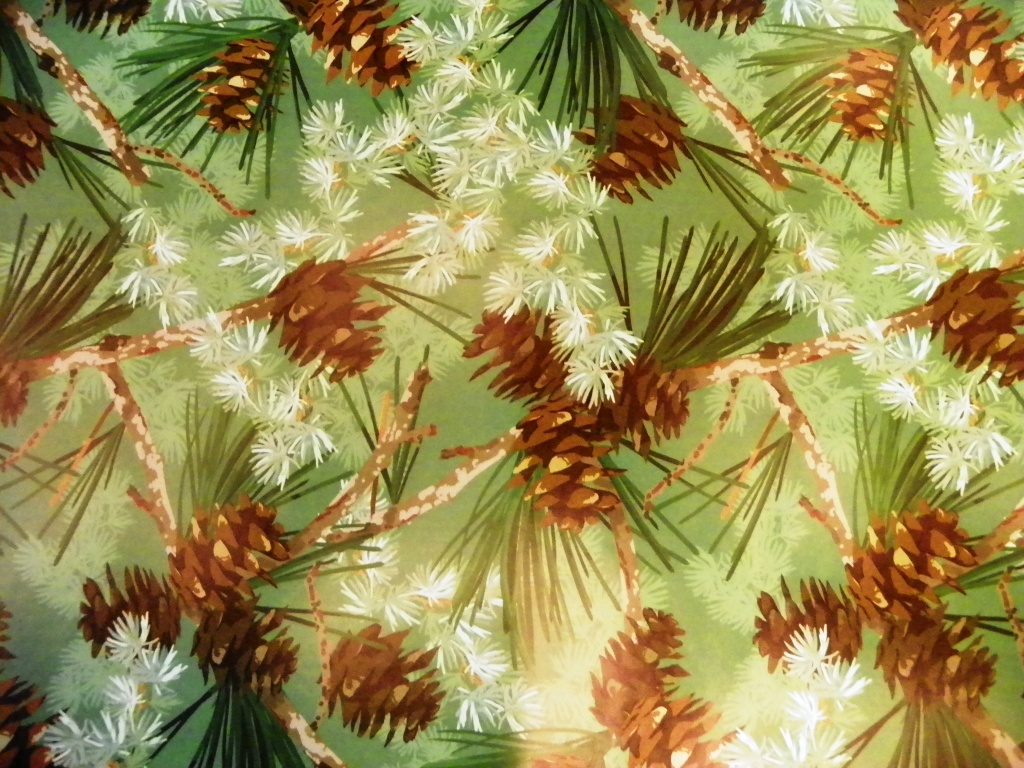 pinecone and pine needles paper