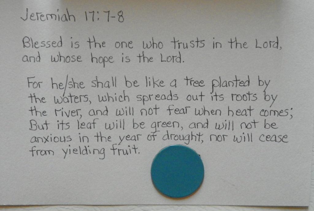 Jeremiah 17.7,8
